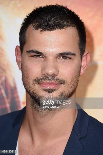 Actor Taylor Lautner attends the premiere of Lionsgate's 'American Ultra' at Ace Theater Downtown LA on August 18 2015 in Los Angeles California