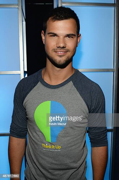 Actor Taylor Lautner attends the Think It Up education initiative telecast for teachers and students hosted by Entertainment Industry Foundation at...