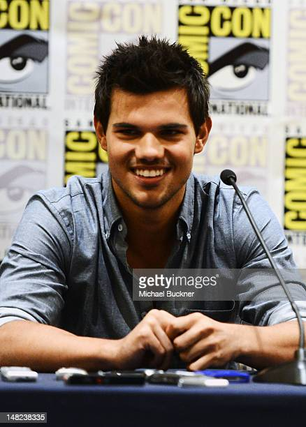 Actor Taylor Lautner attends 'The Twilight Saga Breaking Dawn Part 2' during ComicCon International 2012 at San Diego Convention Center on July 12...