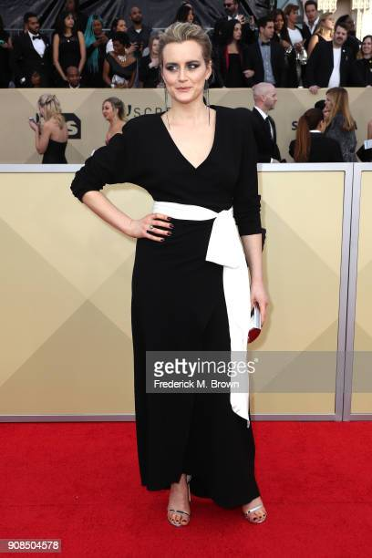 Actor Taylor Schilling attends the 24th Annual Screen Actors Guild Awards at The Shrine Auditorium on January 21 2018 in Los Angeles California...