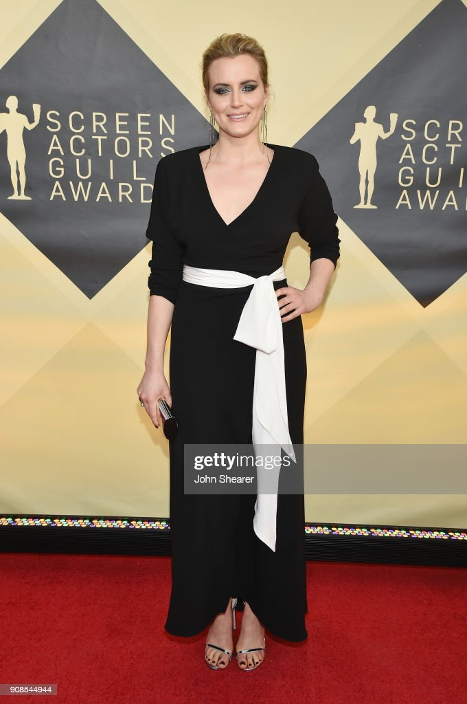 Actor Taylor Schilling attends the 24th Annual Screen Actors Guild Awards at The Shrine Auditorium on January 21, 2018 in Los Angeles, California.