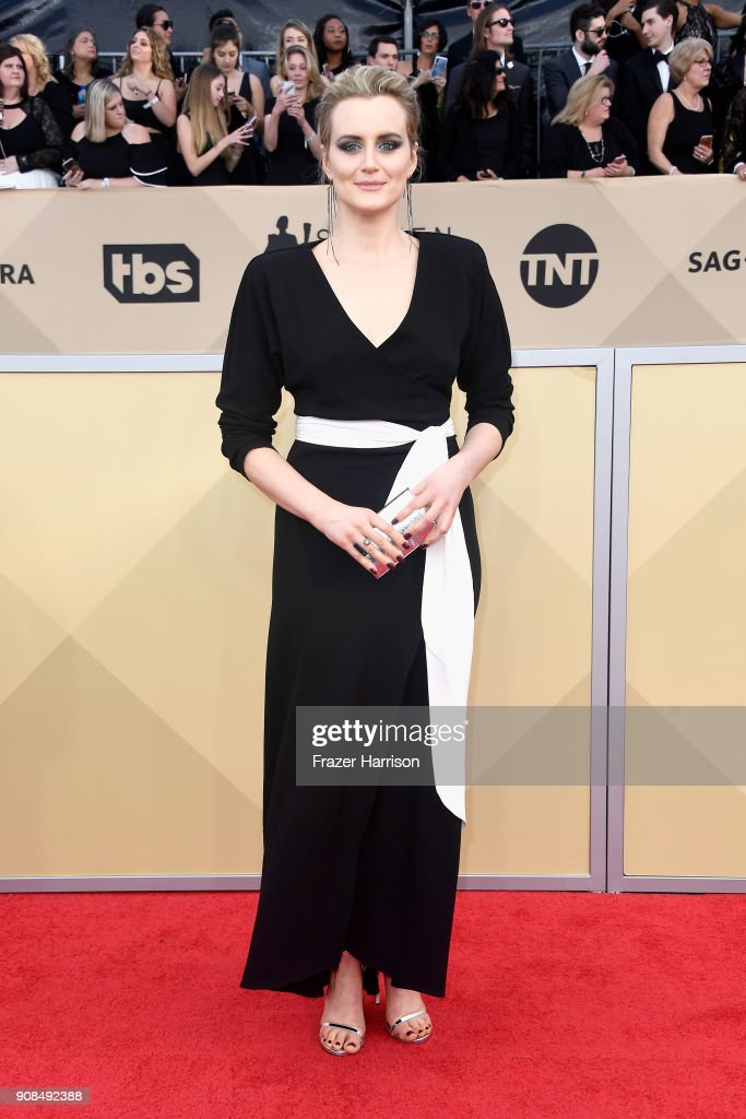 Actor Taylor Schilling attends the 24th Annual Screen ActorsGuild Awards at The Shrine Auditorium on January 21, 2018 in Los Angeles, California.