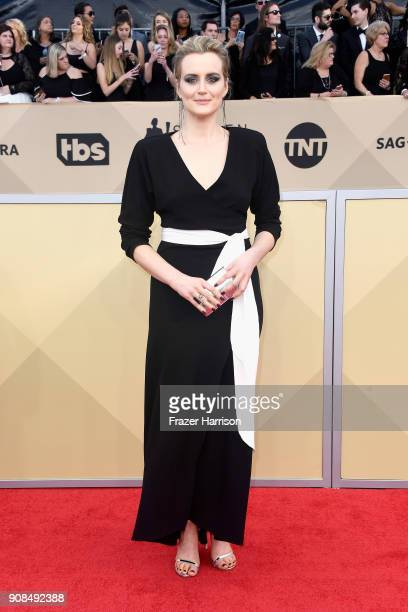 Actor Taylor Schilling attends the 24th Annual Screen Actors Guild Awards at The Shrine Auditorium on January 21 2018 in Los Angeles California