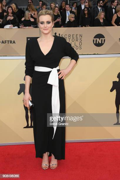 Actor Taylor Schilling attends the 24th Annual Screen ActorsGuild Awards at The Shrine Auditorium on January 21 2018 in Los Angeles California