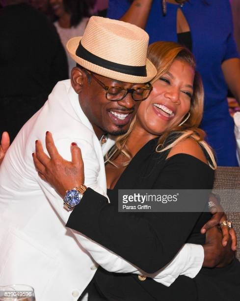 Actor TC Carson and actress Queen Latifah at 2017 BronzeLens Women SuperStars Luncheon at Westin Peachtree Plaza on August 25 2017 in Atlanta Georgia