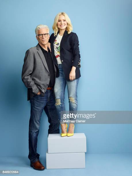 Actor Ted Danson and actress Kristen Bell from 'The Good Place' are photographed for Entertainment Weekly Magazine on July 21 2016 at Comic Con in...