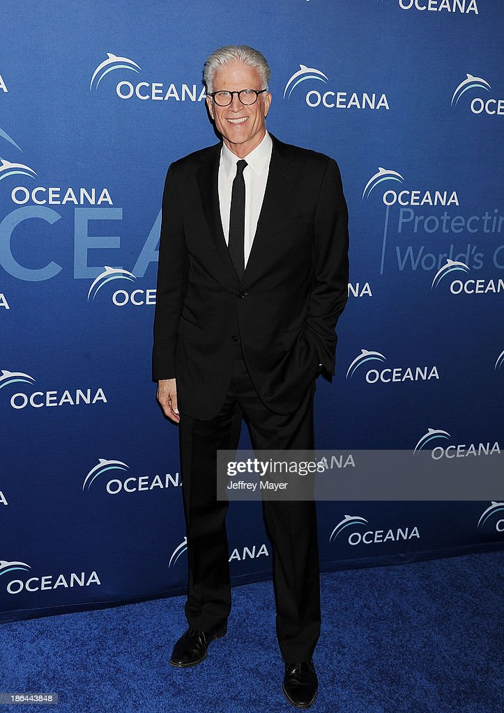 Actor Ted Danson arrives at the Oceana Partners Award Gala With Former Secretary Of State Hillary Rodham Clinton and HBO CEO Richard Plepler at Regent Beverly Wilshire Hotel on October 30, 2013 in Beverly Hills, California.