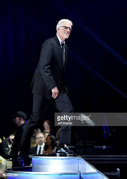 Actor Ted Danson attends The 23rd Annual Critics' Choice Awards at Barker Hangar on January 11 2018 in Santa Monica California