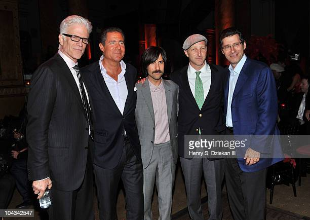 Actor Ted Danson CoPresident HBO Richard Plepler Actor Jason Schwartzman Jonathan Ames and CoPresident HBO Eric Kessler attends HBO's Bored To Death...