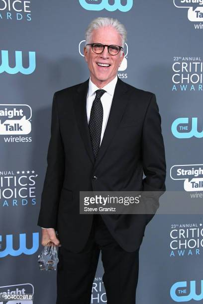 Actor Ted Danson poses with the award for Best Actor in a Comedy Series for 'The Good Place' in the press room during The 23rd Annual Critics' Choice...
