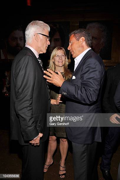 Actor Ted Danson president HBO Entertainment Sue Nagle and HBO copresident Richard Plepler attend HBO's Bored To Death premiere after party at...