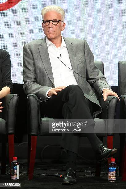 Actor Ted Danson speaks onstage during the 'Fargo' panel discussion at the FX portion of the 2015 Summer TCA Tour at The Beverly Hilton Hotel on...