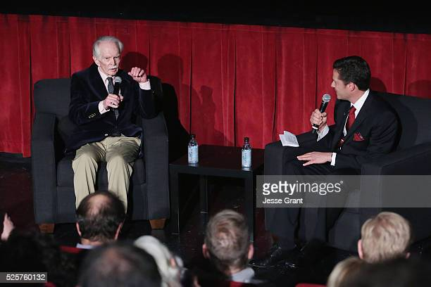 Actor Ted Donaldson and Jeremy Arnold speak onstage at the screening of 'A Tree Grows in Brooklyn' during day 1 of the TCM Classic Film Festival 2016...