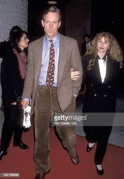 Actor Ted Shackelford and wife Annette Wolfe attend 'A Perfect World' Westwood Premiere on November 15 1993 at Mann National Theatre in Westwood...