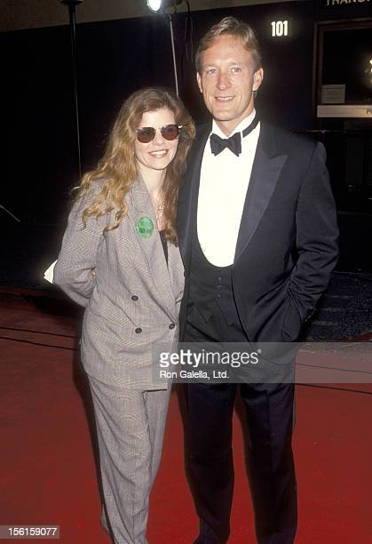 Actor Ted Shackelford and wife Annette Wolfe attend the 19th Annual People's Choice Awards on March 9 1993 at Universal Studios in Universal City...