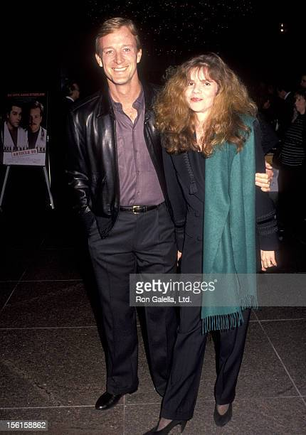 Actor Ted Shackelford and wife Annette Wolfe attend the 'Article 99' West Hollywood Premiere on February 4 1992 at DGA Theatre in West Hollywood...