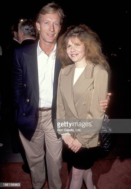 Actor Ted Shackelford and wife Annette Wolfe attend 'The Fisher King' Beverly Hills Premiere on September 16 1991 at Academy Theatre in Beverly Hills...
