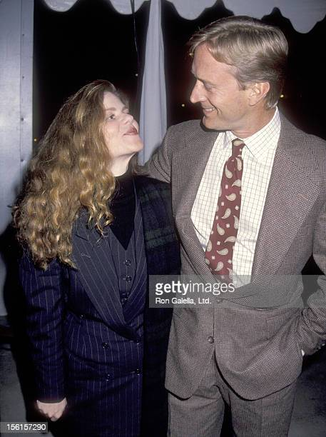 Actor Ted Shackelford and wife Annette Wolfe attend the Private Auction to Introduce the New Italian Ferrari 348 on February 26 1993 at the Museum of...