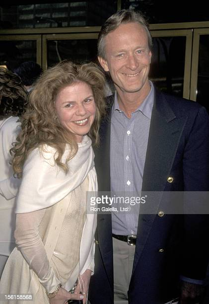 Actor Ted Shackelford and wife Annette Wolfe attend 'The Truman Show' Westwood Premiere on June 1 1998 at Mann National Theatre in Westwood California