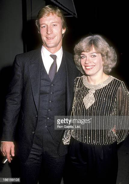 Actor Ted Shackelford and wife Janis Leverenz attend Julie Harris' Stage Performance on November 7 1983 in Los Angeles California