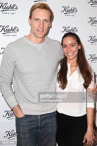Actor Teddy Sears and Melissa Skoro attend the Recycle Across America benefit event at Kiehl's Since 1851 on April 7 2014 in Santa Monica California