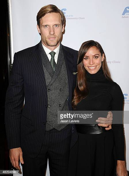 Actor Teddy Sears and wife Melissa Skoro attend Saban Community Clinic's 37th annual benefit gala at The Beverly Hilton Hotel on November 25 2013 in...
