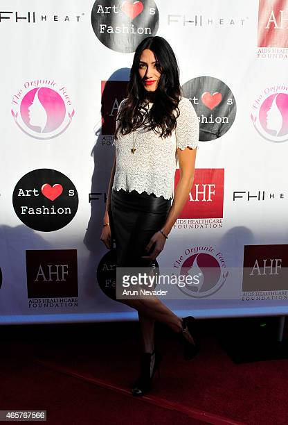 Actor Tehmina Sunny arrives at the Sue Wong fashion show Mythos and Goddesses at the Taglyan Cultural Complex on March 9 2015 in Hollywood California
