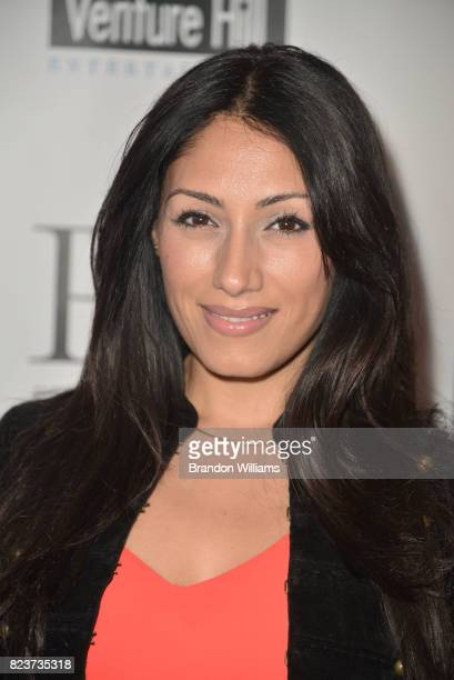 Actor Tehmina Sunny attends the sneak preview of In Vino at Writers Guild Theater on July 27 2017 in Beverly Hills California
