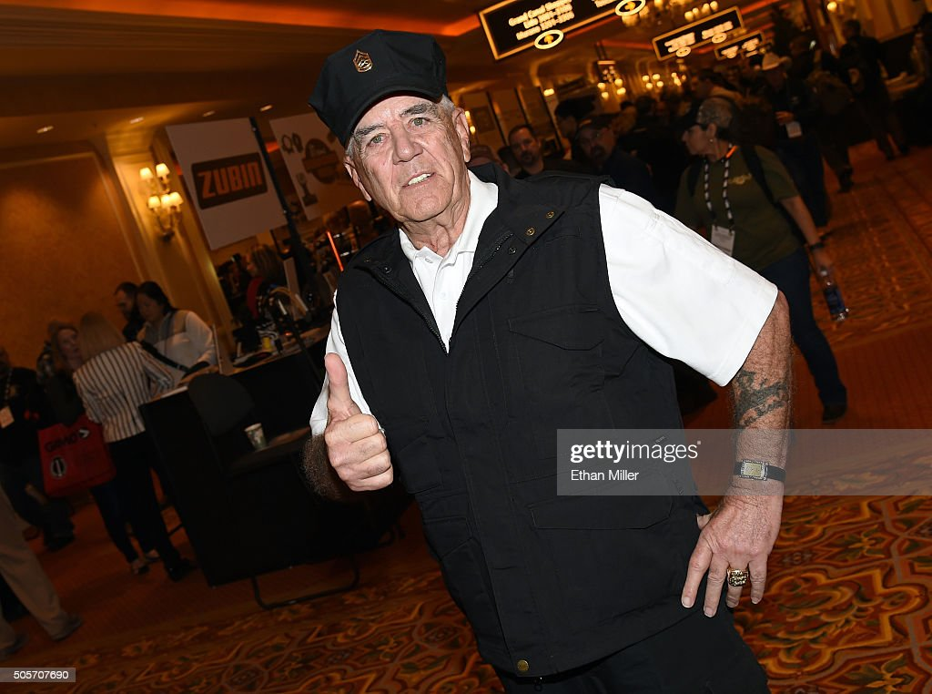 Actor, television personality and former U.S. Marine Corps gunnery sergeant R. Lee Ermey attends the 2016 National Shooting Sports Foundation's Shooting, Hunting, Outdoor Trade (SHOT) Show to promote his Outdoor Channel show 'Gunnytime with R. Lee Ermey' at the Sands Expo and Convention Center on January 19, 2016 in Las Vegas, Nevada. The SHOT Show, the world's largest annual trade show for shooting, hunting and law enforcement professionals, runs through January 23 and is expected to feature 1,600 exhibitors showing off their latest products and services to more than 62,000 attendees.