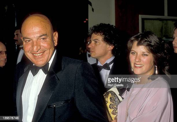 Actor Telly Savalas and date Julie Hovland attend the 12th Annual American Film Institute Lifetime Achievement Award Salute to Lillian Gish on March...