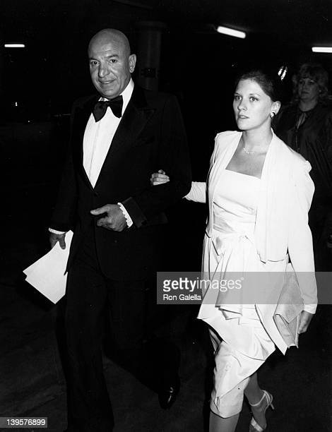 Actor Telly Savalas and wife Julie Hovland attend 52nd Annual Academy Awards on April 14 1980 at the Dorothy Chandler Pavilion in Los Angeles...