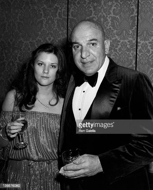 Actor Telly Savalas and wife Julie Hovland attend 85th Birthday Party for George Burns on January 20 1981 at the Beverly Hilton Hotel in Beverly...