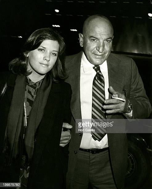 Actor Telly Savalas and wife Julie Hovland attend the opening of Sophisticated Ladies on January 27 1982 at the Shubert Theater in Century City...