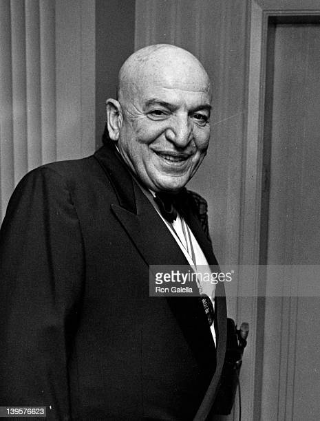 Actor Telly Savalas attend Ellis Island Medals of Honor Awards Dinner on December 9 1990 at Ellis Island in New York City