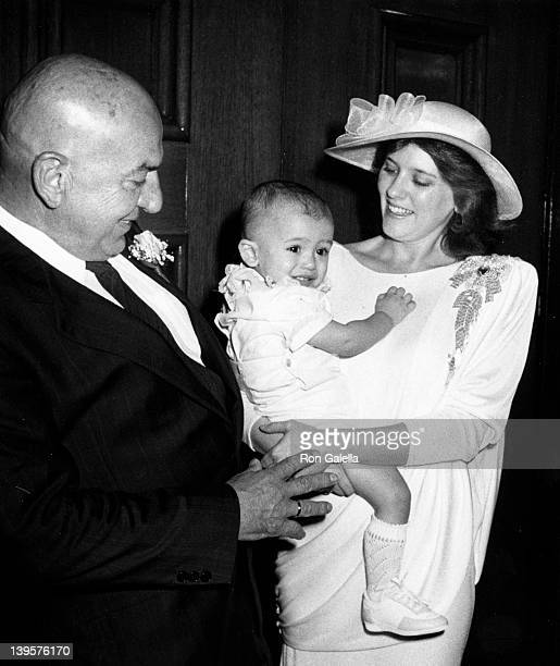 Actor Telly Savalas wife Julie Hovland and son Christian Savalas attend Telly SavalasJulie Hovland Wedding Ceremony on March 8 1986 at St Sophia...