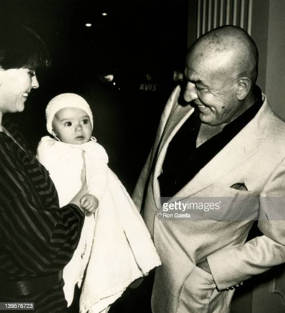 Actor Telly Savalas wife Julie Hovland and son Christian Savalas attend Fourth Annual Young Musicians Celebrity MotherDaughter Fashion Show on March...