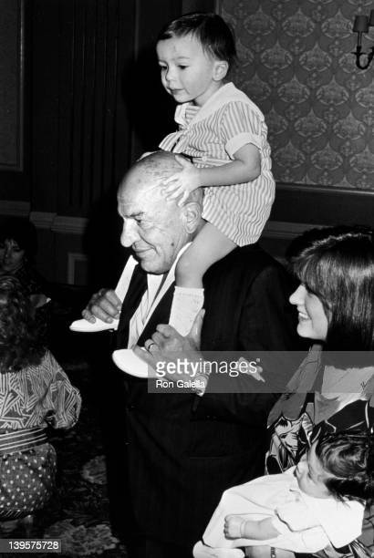 Actor Telly Savalas wife Julie Hovland son Christian Savalas and daughter Ariana Savalas attend Young Musicians Foundation Celebrity MotherDaughter...