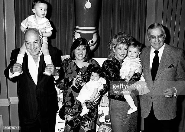 Actor Telly Savalas wife Julie Hovland son Christian Savalas and daughter Ariana Savalas and Ed McMahon wife Victoria McMahon and daughter Katherine...