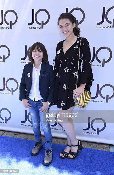 Actor Teo Briones and actress Isa Briones attend the JQ Visibility Award at the JQ Awards Garden Brunch on May 22 2016 in Beverly Hills California