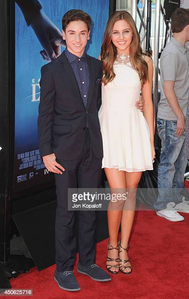 "Actor Teo Halm and actress Ella Wahlestedt arrive at the 2014 Los Angeles Film Festival - Screening Of """"Earth To Echo"" at Regal Cinemas L.A. Live on..."
