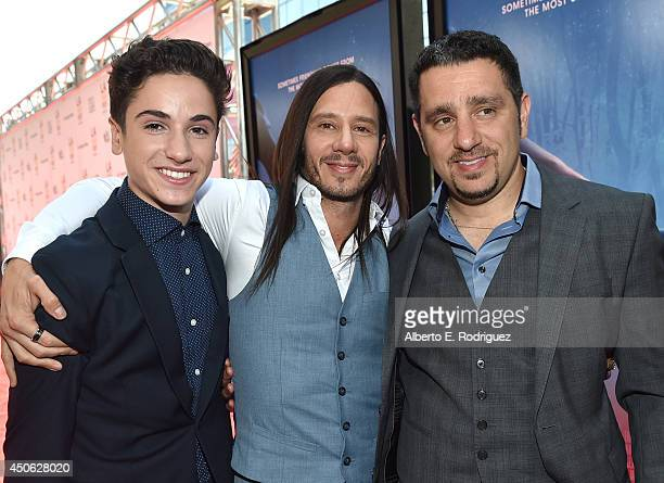 """Actor Teo Halm, producer Andrew Panay and Panos Panay attend the premiere of """"Earth to Echo"""" during the 2014 Los Angeles Film Festival at Premiere..."""