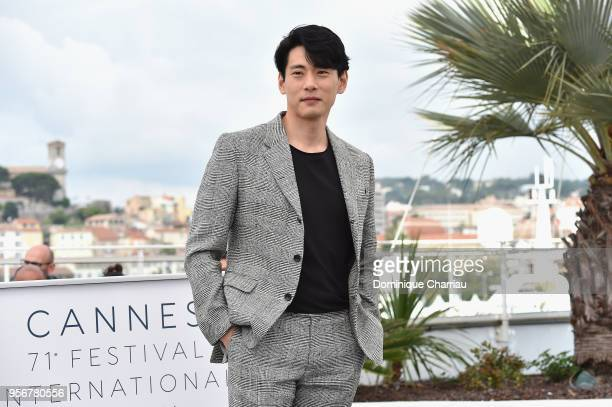 Actor Teo Yoo attends the photocall for Leto during the 71st annual Cannes Film Festival at Palais des Festivals on May 10 2018 in Cannes France