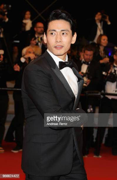 Actor Teo Yoo attends the screening of Leto during the 71st annual Cannes Film Festival at Palais des Festivals on May 9 2018 in Cannes France