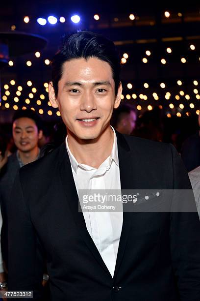Actor Teo Yoo attends the Seoul Searching after party during the 2015 Los Angeles Film Festival at Festival Terrace on June 17 2015 in Los Angeles...