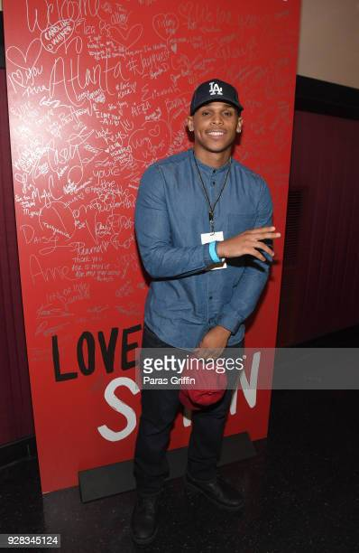 Actor Terayle Hill attends Love Simon Atlanta Fan Screening and QA at Regal Atlantic Station on March 6 2018 in Atlanta Georgia