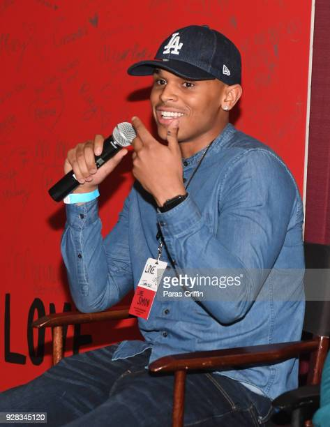 """Actor Terayle Hill speaks onstage at """"Love, Simon"""" Atlanta Fan Screening and Q&A at Regal Atlantic Station on March 6, 2018 in Atlanta, Georgia."""