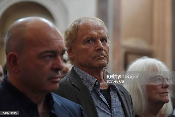 Actor Terence Hill whose real name is Mario Girotti attends the funeral of Italian actor Bud Spencer born Carlo Pedersoli at the 'church of the...