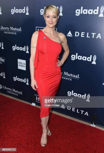 Actor Teri Polo attends the 28th Annual GLAAD Media Awards in LA at The Beverly Hilton Hotel on April 1 2017 in Beverly Hills California