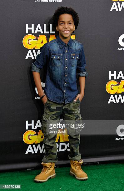 Actor Terrell Ransom Jr attends Cartoon Network's fourth annual Hall of Game Awards at Barker Hangar on February 15 2014 in Santa Monica California
