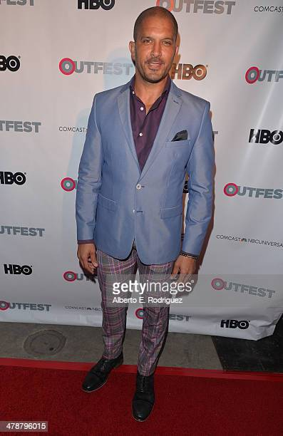"""Actor Terrell Tilford arrives to the Outfest Fusion LGBT People of Color Film Fetival Opening Night Screening of """"Blackbird"""" at the Egyptian Theatre..."""